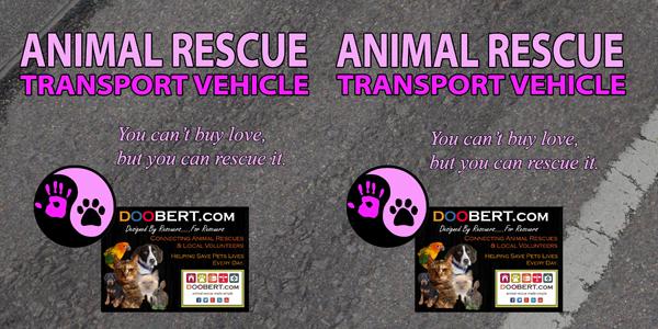 0LR-Rescue Car Magnet - Pink